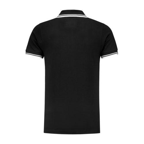 Poloshirt Embroidered Badge / Black